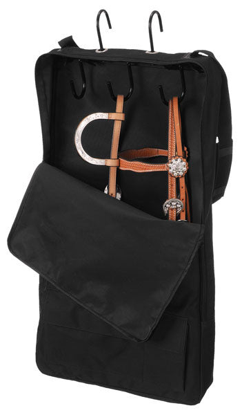Bridle/Show Halter Bag/Case - Black - 3 Hook - Tough 1 - Personalized/Monogrammed