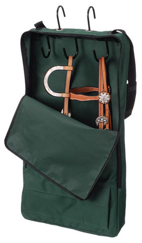 Bridle/Show Halter Bag/Case - Hunter Green - 3 Hook - Tough 1 - Personalized/Monogrammed