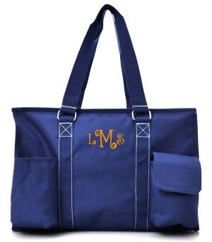 Small UtilityTote/Tote Bag - Navy - Personalized/Monogrammed