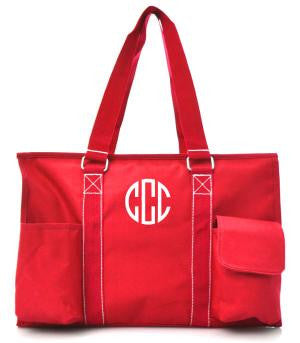 Small UtilityTote/Tote Bag - Red - Personalized/Monogrammed