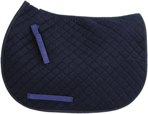 TuffRider Navy Dressage Saddle Pad - Personalized/Monogrammed