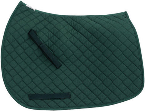 TuffRider Hunter Green Dressage Saddle Pad - Personalized/Monogrammed