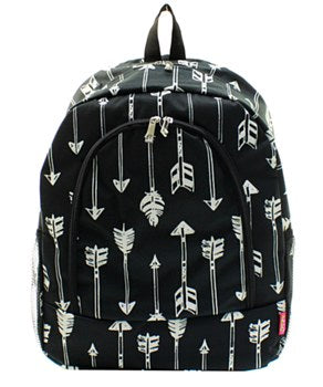 Arrow Backpack/Bookbag - Black - Personalized/Monogrammed