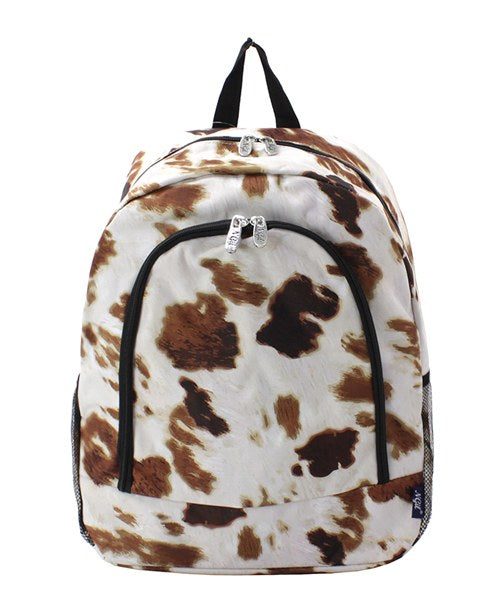 Cow Print Backpack/Bookbag - Personalized/Monogrammed