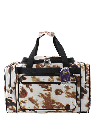 Cow Print Duffel/Overnight Bag/Gym Bag - Personalized/Monogrammed