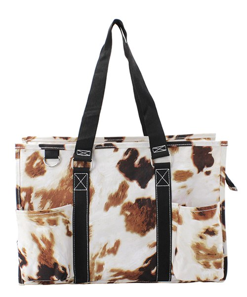 Cow Print Small Utility Tote/Tote Bag - Personalized/Monogrammed