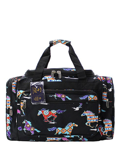 Horse Duffel/Overnight Bag/Gym Bag - Black - Personalized/Monogrammed