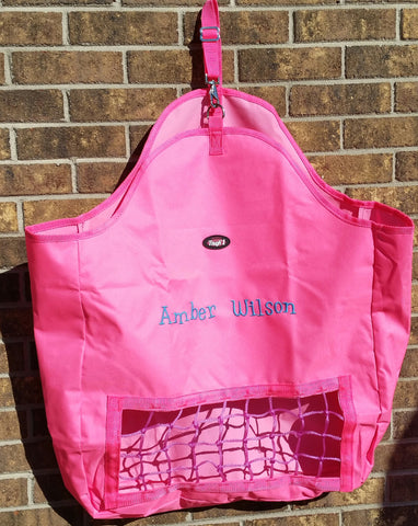 Slow Feed Hay Bag - Pink - Tough 1 - Personalized/Monogrammed