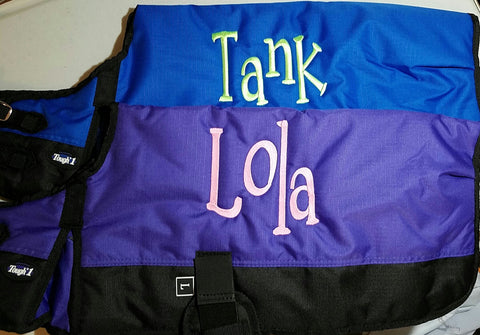 Dog Blanket/Jacket/Coat - Royal Blue - Tough 1 - Personalized/Monogrammed