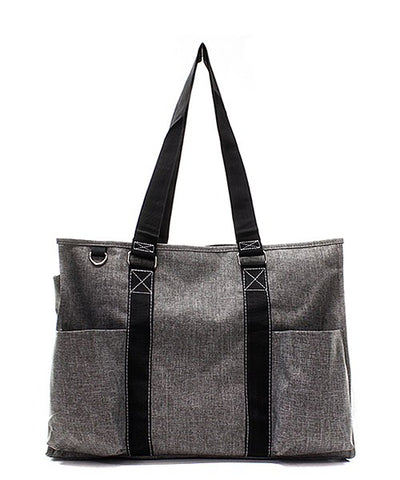 Gray Stone Wash Small UtilityTote/Tote Bag - Personalized/Monogrammed
