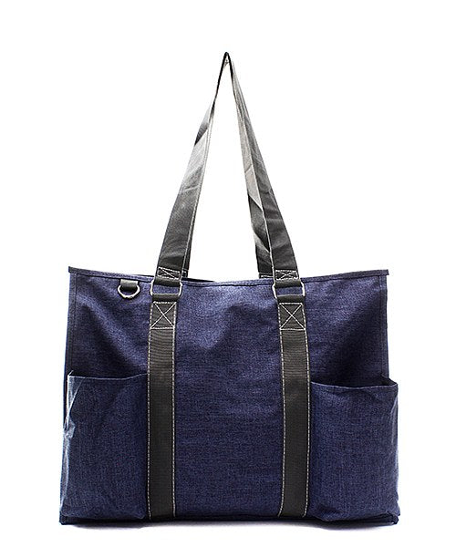 Small UtilityTote/Tote Bag - Navy Stone Wash - Personalized/Monogrammed