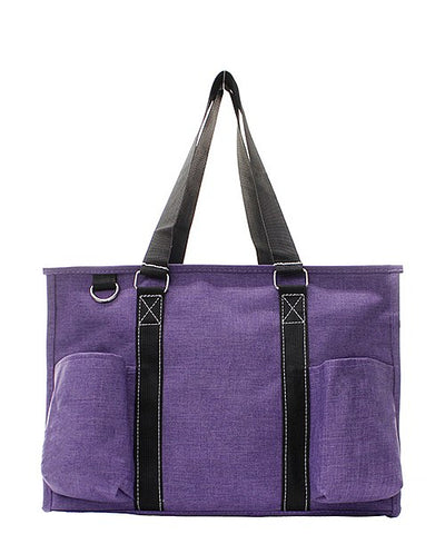 Small UtilityTote/Tote Bag - Purple Stone Wash - Personalized/Monogrammed