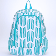 Turquoise and White Arrow Backpack/Bookbag - Personalized/Monogrammed