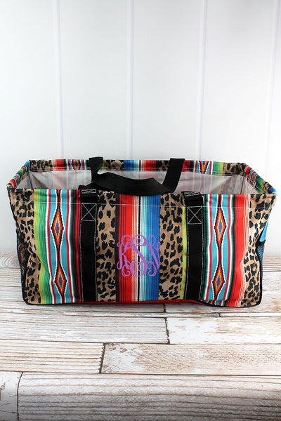 Wild Serape Print Large Utility Tote/Tote Bag - Personalized/Monogrammed