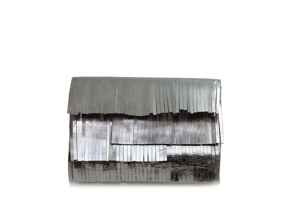 Metallic Fringe Small Clutch
