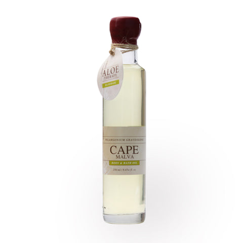 aloe therapy body and bath oil cape malva