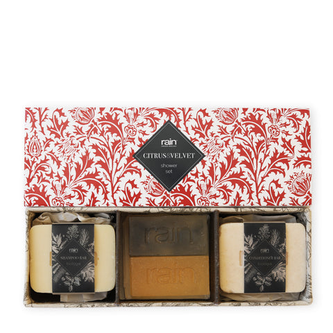 citrus & velvet shower box set