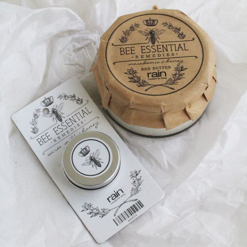Bee Essential Remedies Body Butter And Lip Balm - Gift Set