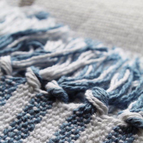 Cotton Throw - Blue - Bath Towel