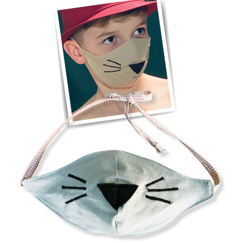 kiddies face masks - fawn
