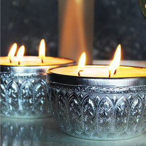 Silver Bowl Candle - Large - Candle