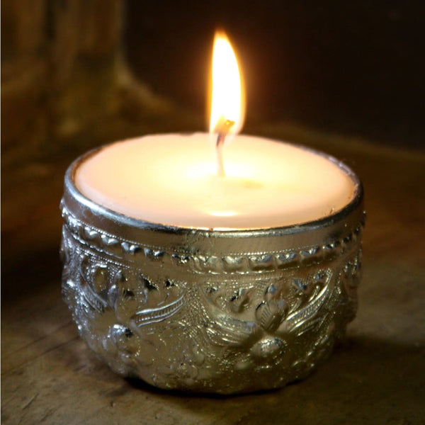 Silver Bowl Candle - Medium - Candle
