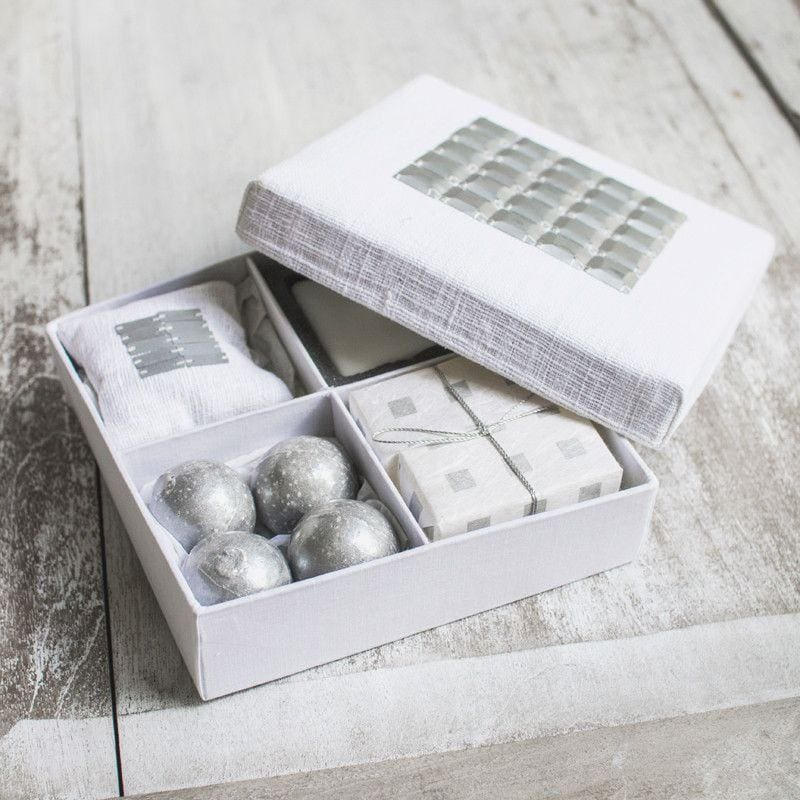 Wild Cotton Box Four Division Silver - Gift Box