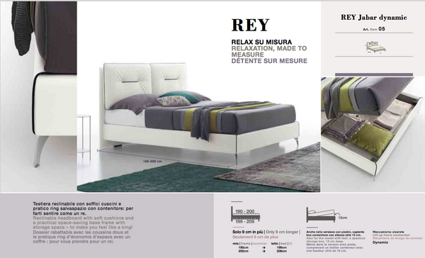 Rey reduced size bed only 9 cm +