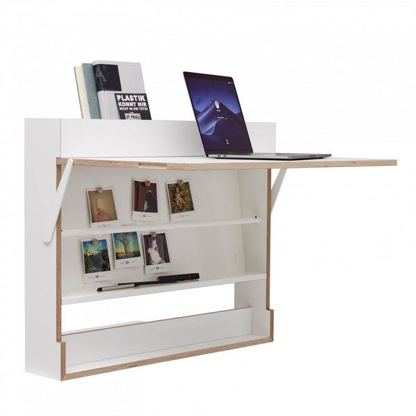 WORKOUT wall mounted writing and standup desk, Germany [EN]