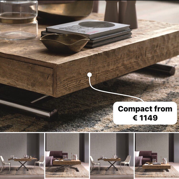 Compact transforming coffee table by Altacom Italia