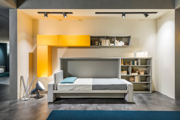 Tetris shelving system for Living and Young Collections by Clei, Italy