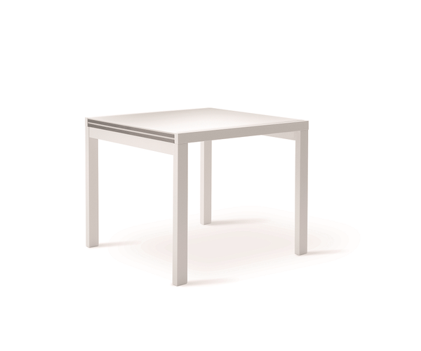 CORA 80/90/120 extendable kitchen table by Natisa, Italy