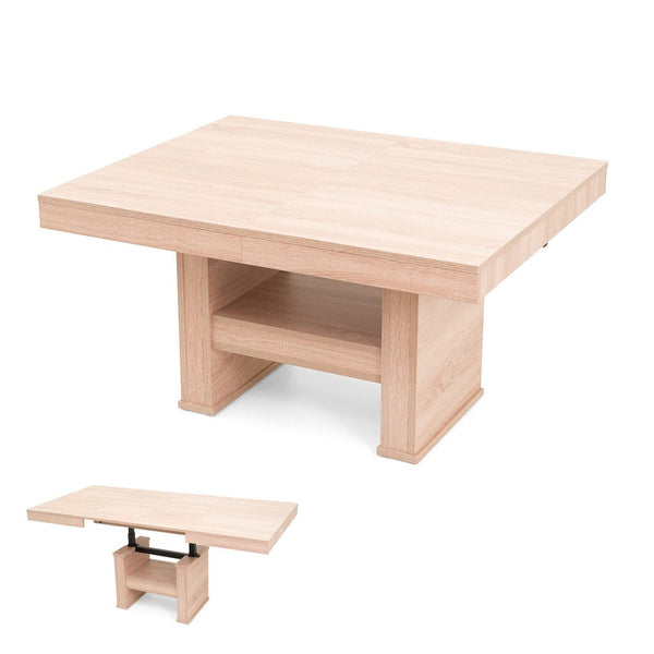 COMBO coffee-dining table with variable height and size