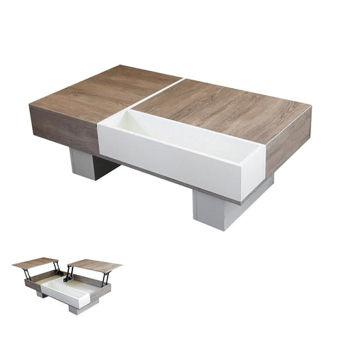 Double coffee-sofa table and corner working desk for two