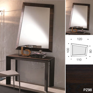 LOOK 100X120 HEAT TREATED OAK FRAME PZ98 by Ozzio Italia [Warehouse clearance - 40 %]