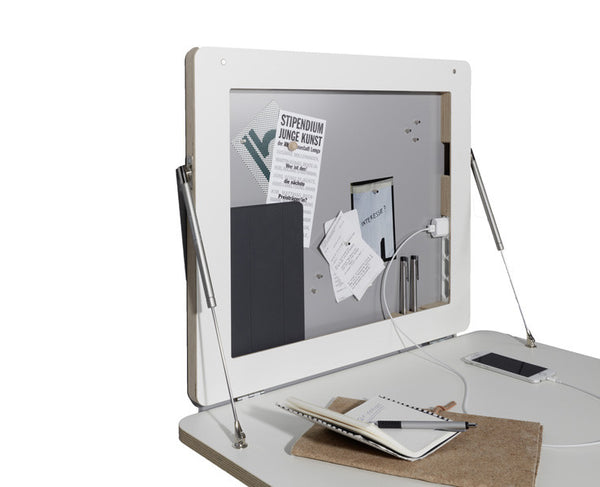 FLATFRAME the smallest wall mounted home office, Germany [EN]
