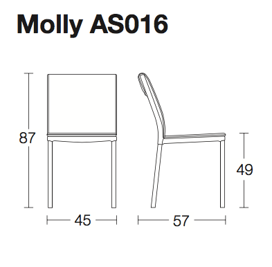 Molly soft leather chair by Altacom Italia