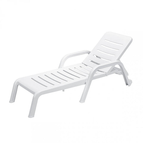 Casablanca sun bed, white, stackable 16 pcs