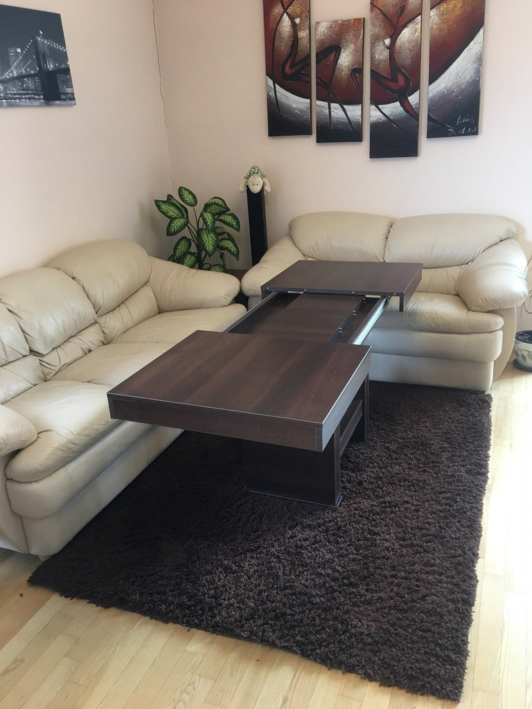 combo coffeedining table with variable height and size