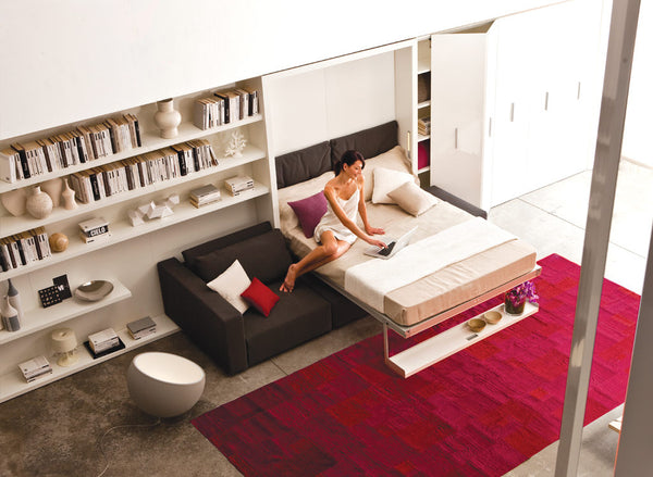SWING SOFA WALL BED SOFA & CHAISE LOUNGE floor model by Clei, Italy [EN]