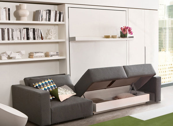 SWING SOFA WALL BED SOFA & CHAISE LOUNGE by Clei, Italy