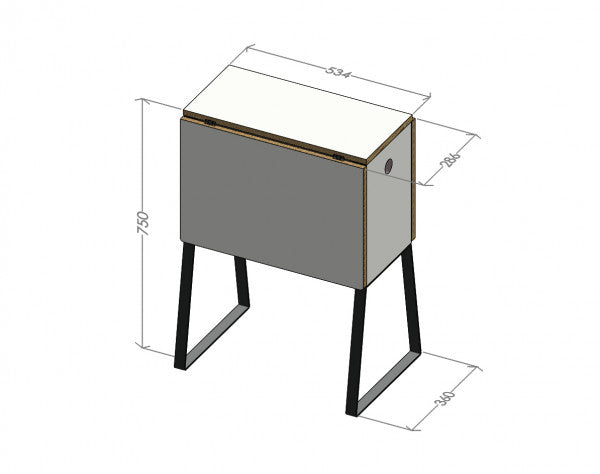 Wingcube small transforming table, Müller Möbelwerkstätten, Germany [EN]
