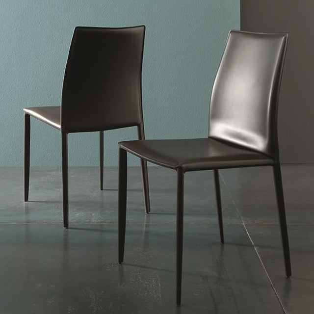 Erica split leather chair by Altacom Italia
