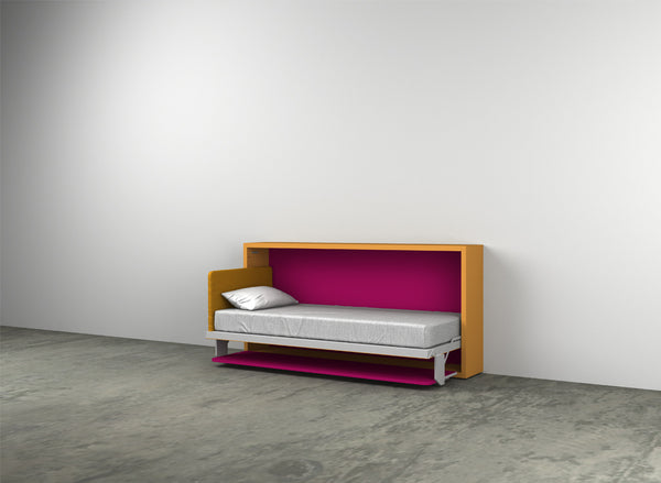 Kali Board 90/120 horizontal opening wall bed by Clei, Italy