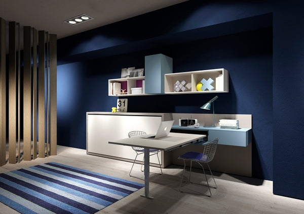 Kali 90/120 horizontal opening wall bed by Clei, Italy