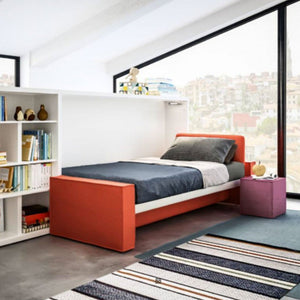 Kali Sofa 90/120 horizontal opening wall bed by Clei, Italy