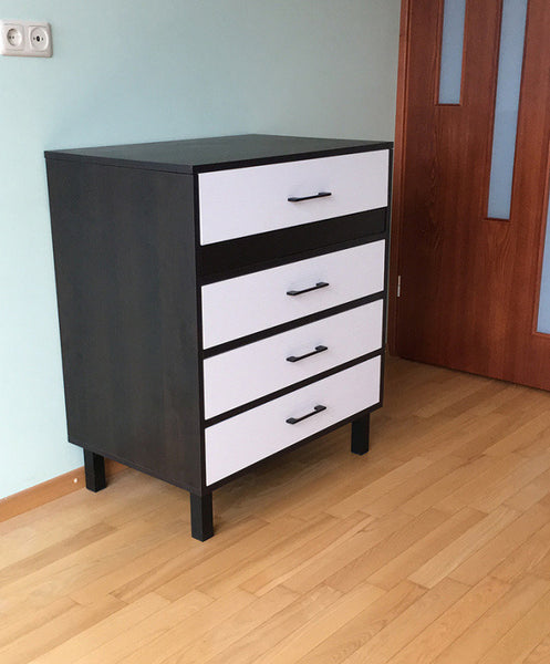 MULTI, chest of drawers with mirror and extendable desk