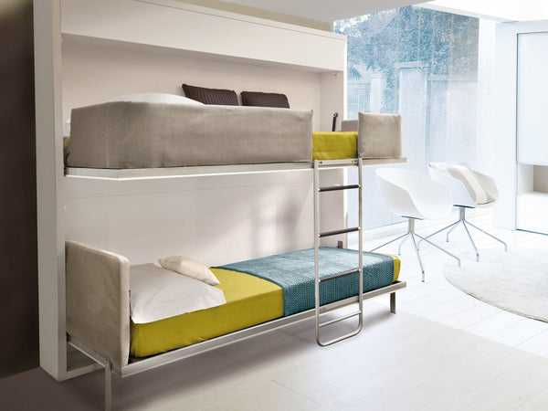 Lollipop and Lollisoft 90 / 220 recycling bunkbed by Clei, Italy