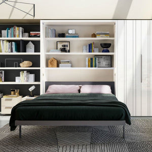 Penelope 2 book wall bed for 160 x 198 x 18 cm mattress