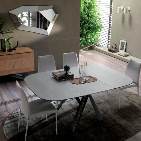 BOMBO ALLUNGABILE 120x120+55 table by Ozzio Italia
